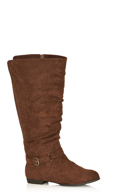 Plus Size Beacon Tall Boot - chocolate