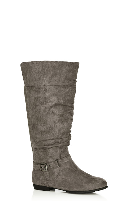 Plus Size Beacon Tall Boot - gray
