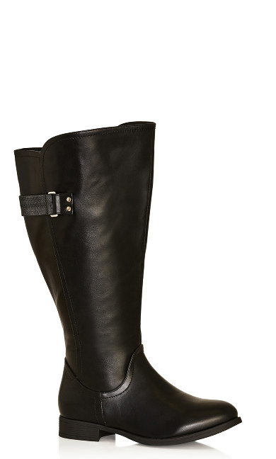 Plus Size Lina Tall Boot - black