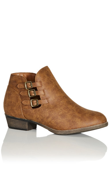 Plus Size Ronda Ankle Boot - brown