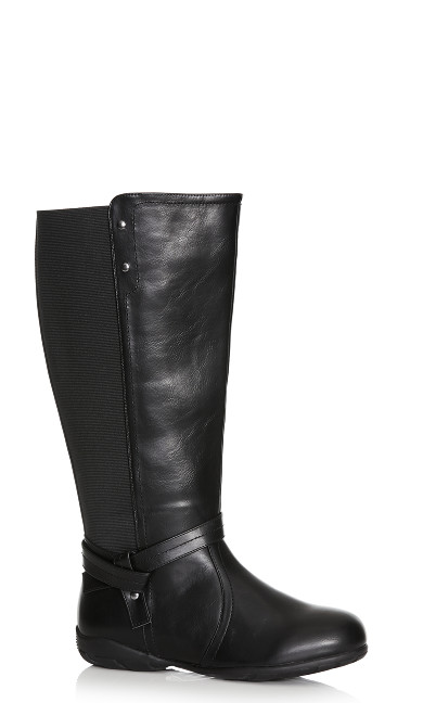 Plus Size Vera Tall Boot - black