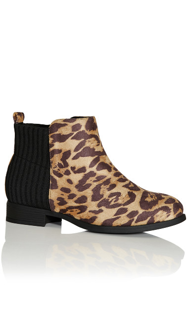 Plus Size Jasmyn Ankle Boot - animal