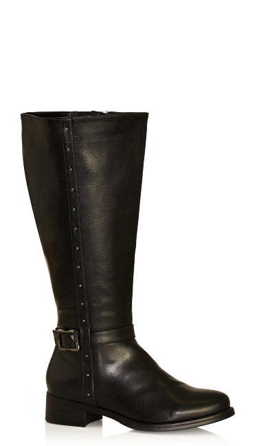 Plus Size Alex Tall Boot - black