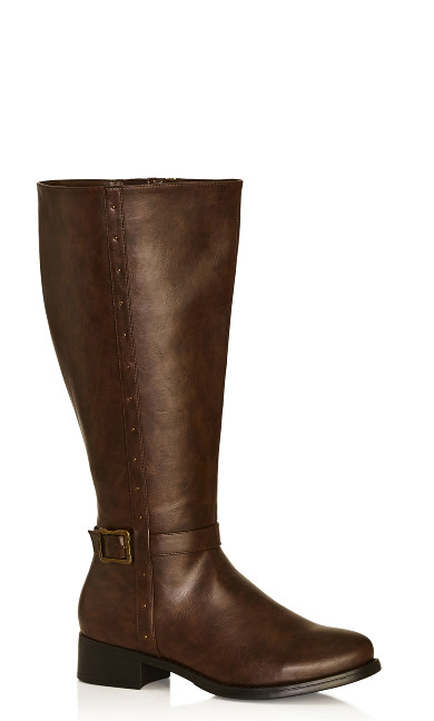 Plus Size Alex Tall Boot - brown