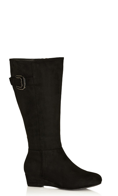 Plus Size Audrina Tall Boot - black