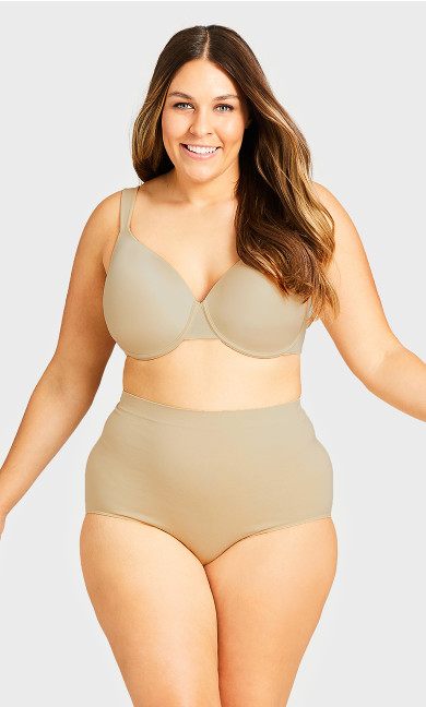 Plus Size Smooth Embrace Brief - beige