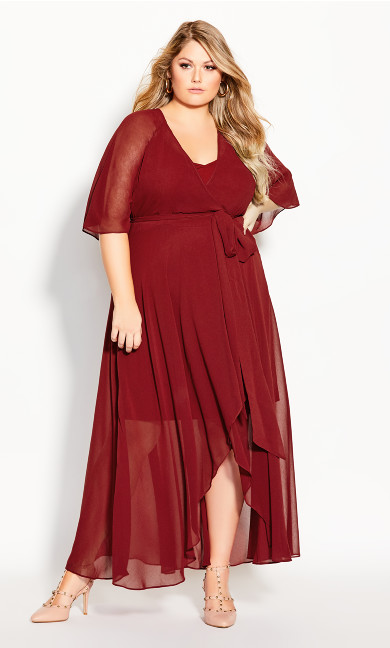 Plus Size Enthral Me Maxi Dress - henna