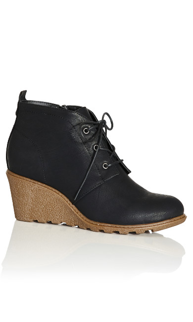 Plus Size Kylie Ankle Boot - black