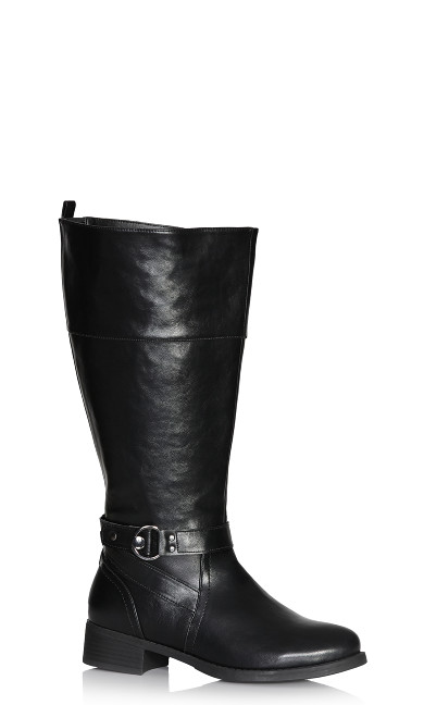 Plus Size Tilly Tall Boot - black