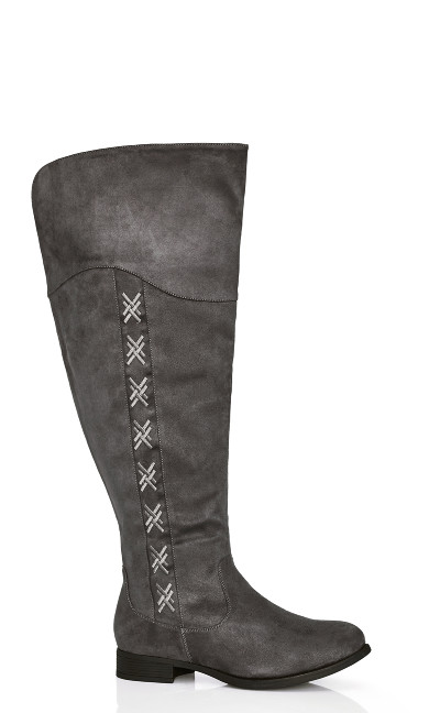 Plus Size Nadia Tall Boot - grey