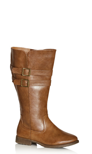 Plus Size Norwalk Tall Boot - cognac