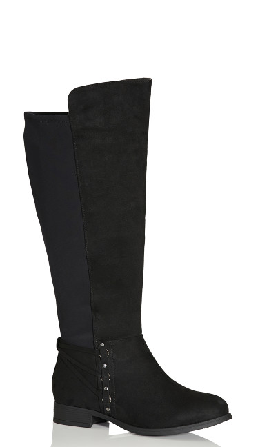 Plus Size Phoenix Tall Boot - black