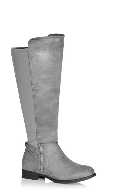 Plus Size Phoenix Tall Boot - grey