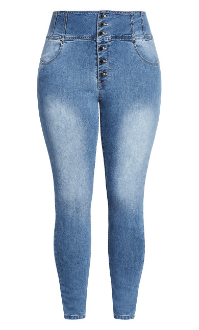 Harley Romantic Corset Jean - denim