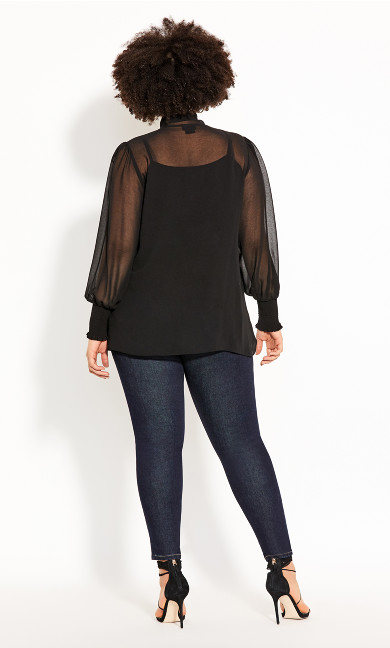 Luxe Knot Top - black