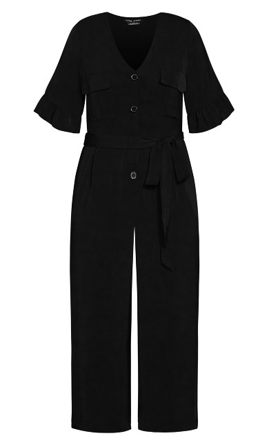 Utility Pocket Jumpsuit - black