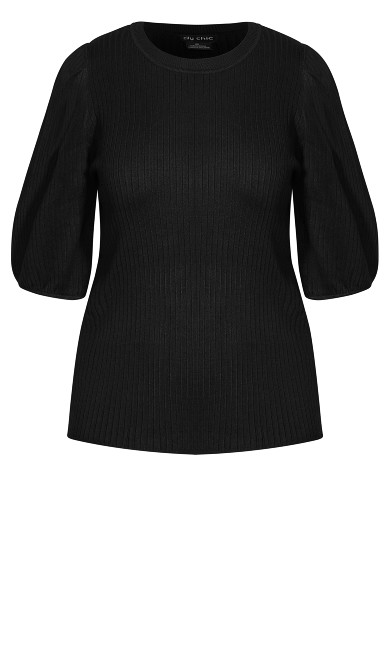 Sweet Rib Top - black