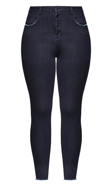 Next Level Corset Jean - dark denim