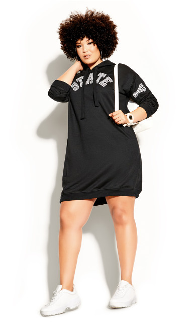 Plus Size NY State Hoodie - black