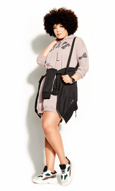 Plus Size NY State Hoodie - dusty rose