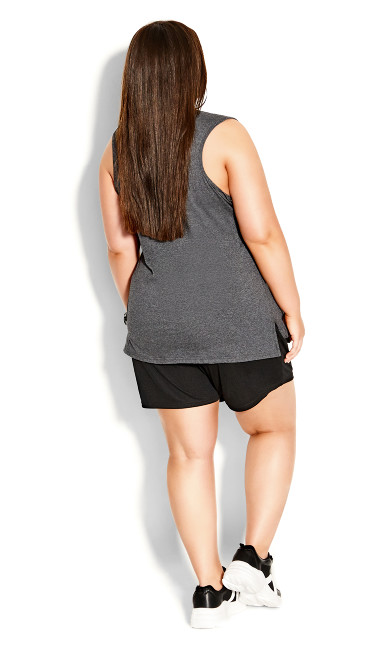 Step Down Tank - charcoal