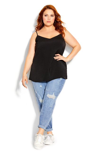 Plus Size Simply Sweet Cami - black