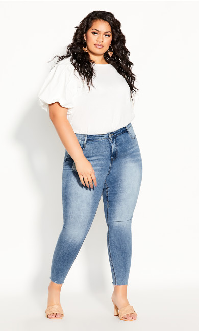 Plus Size Harley Crush Skinny Jean - denim