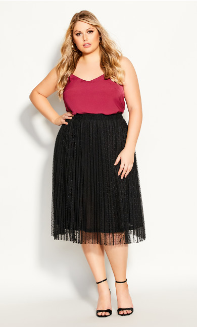 Plus Size Sweet Spot Skirt - black