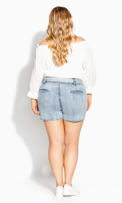 Sweet Tie Short - light denim