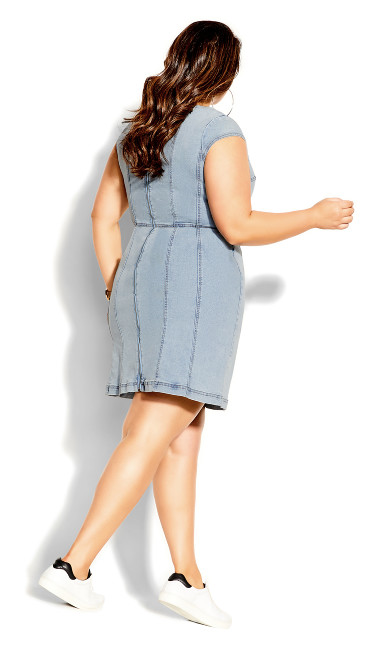 Britney Denim Dress - acid wash
