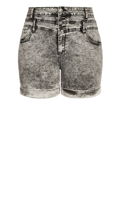 Hi Waist Short - acid wash