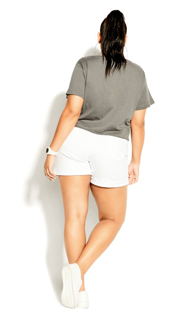 High Waist Short - white
