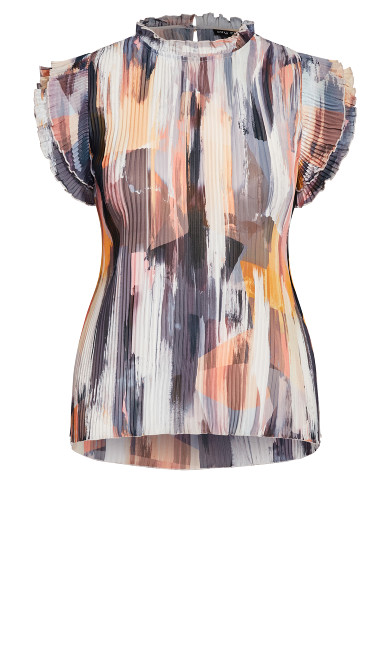Brushstroke Top - mauve