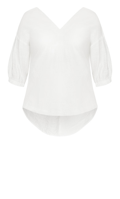 Easy Twist Back Top - ivory