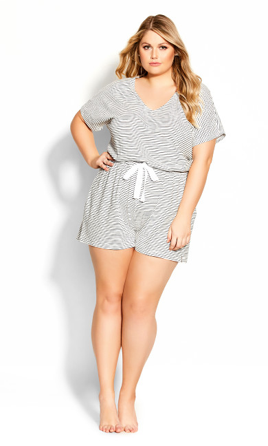 Plus Size Billie Playsuit - black