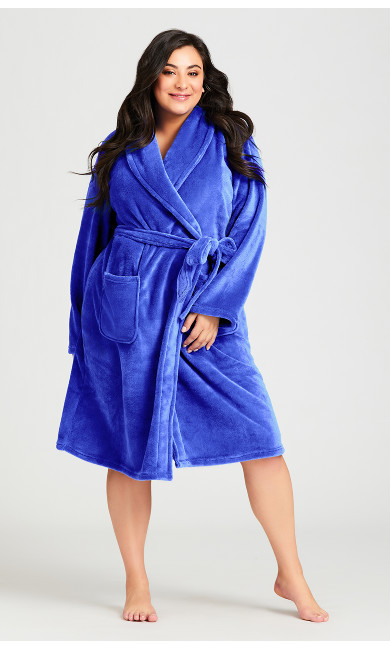 Plus Size Plush Lilac Robe - lilac