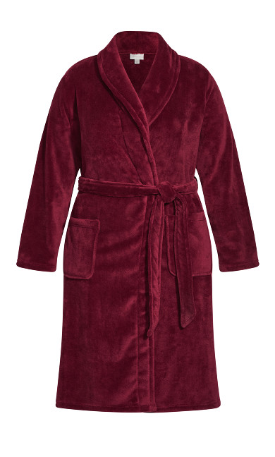 Plain Robe - plum