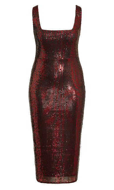 Sexy Sequin Dress - ruby
