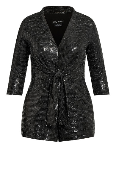 Glamour Playsuit - black