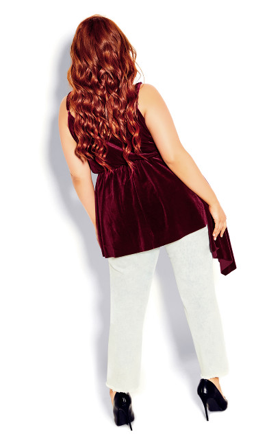 Velvet Love Top - ruby
