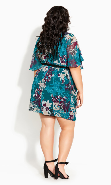 Envelop Me Dress - teal