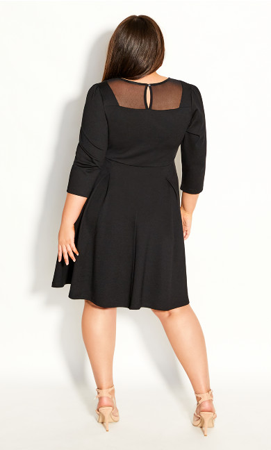 Cute Mesh Dress - black