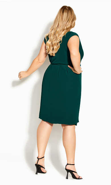 Classic Wrap Dress - seagreen