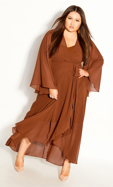 Plus Size Fleetwood Maxi Dress - ginger