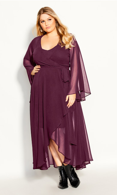 Plus Size Fleetwood Maxi Dress - plum