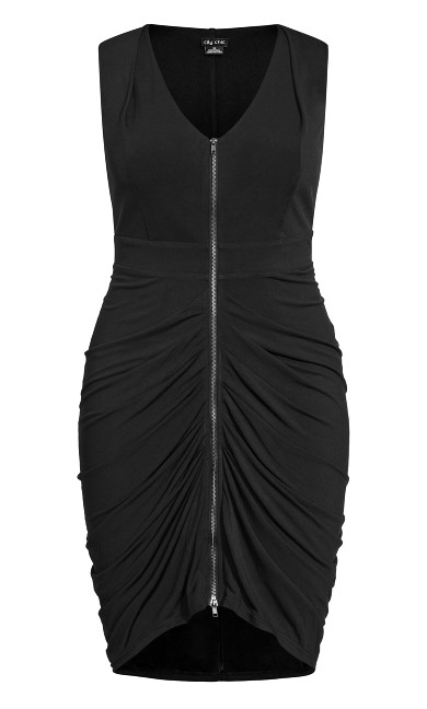 Sexy Drape Dress - black