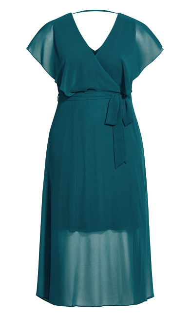 Softly Tied Dress - teal
