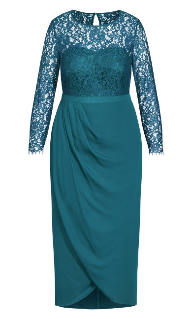Elegant Lace Dress - teal