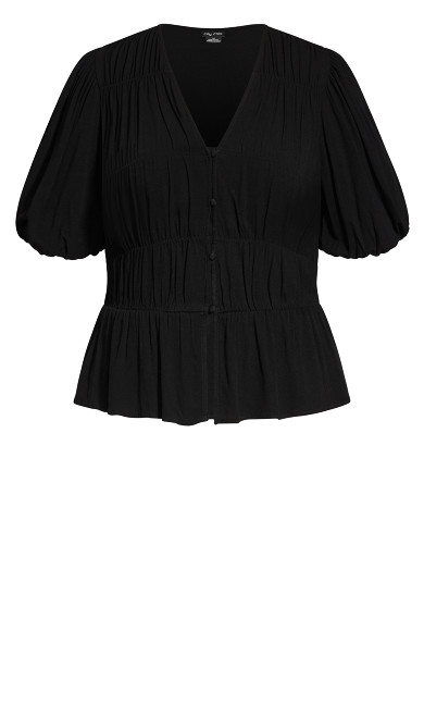 Sweet Sleeve Top - black