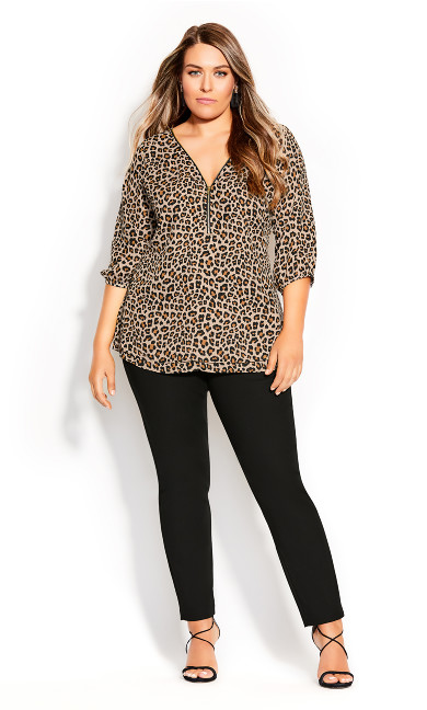 Plus Size Cheetah Fling Top - cheetah